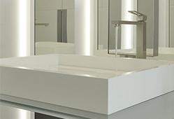V-korr permet la création de plans vasques dans les chambres