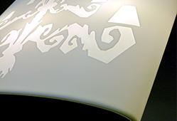 La résine V-korr permet la translucidité, idéal pour les luminaires