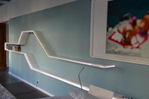 Etagere avec LEDS intégrées