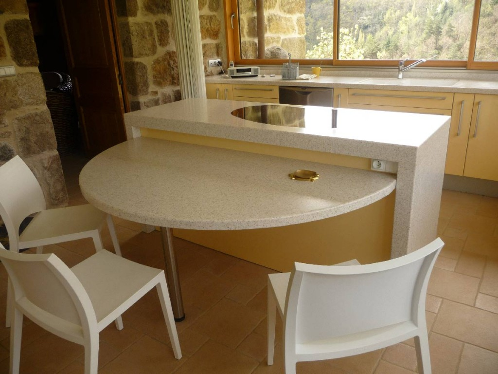 Ajout d'une table en Solid Surface V-korr