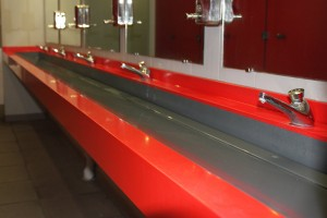 Plan vasque en V-korr - Aire de Saulce
