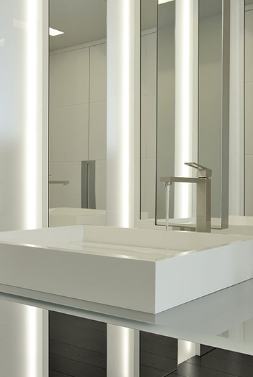Vasque de salle de bains en Solid Surface