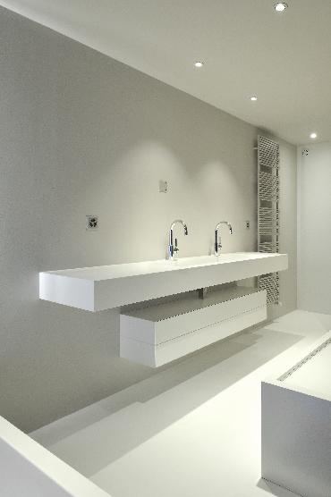 Plan vasque de salle de bains, en V-korr