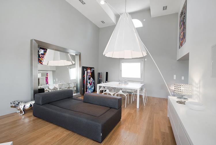 Integration of V-korr in the living room as decoration and furniture