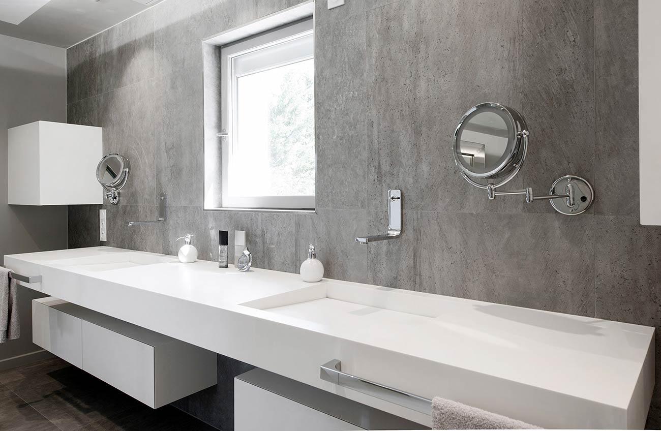 Vasque Salle De Bain Sur Plan De Travail aménagement intégral d'une maison en v-korr - v-korr