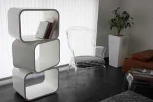 Bibliothèque modulable - cubes en V-korr