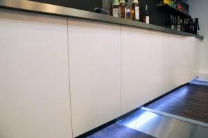 Habillage de placard, avec rétroéclairage LED