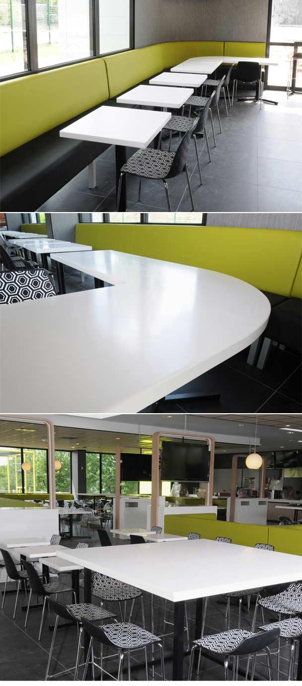 Tables et comptoirs à Multifood - Saint Etienne