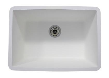 Evier monobac blanc CR600L - Vue 2