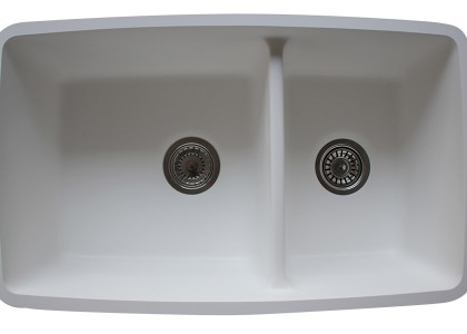 Evier double bac - blanc - DB740B