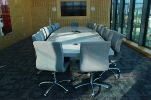 Table de réunion en V-korr