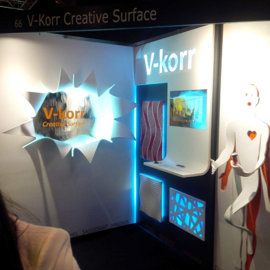 Stand V-korr au salon Architect@Work Paris 2014
