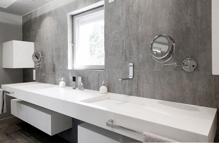 Plan vasque de salle de bains en V-korr