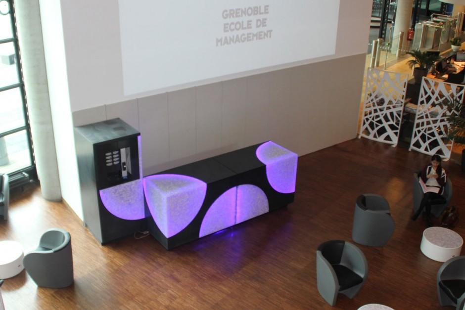 Ecole Management Grenoble - Mobilier et aménagement intérieur