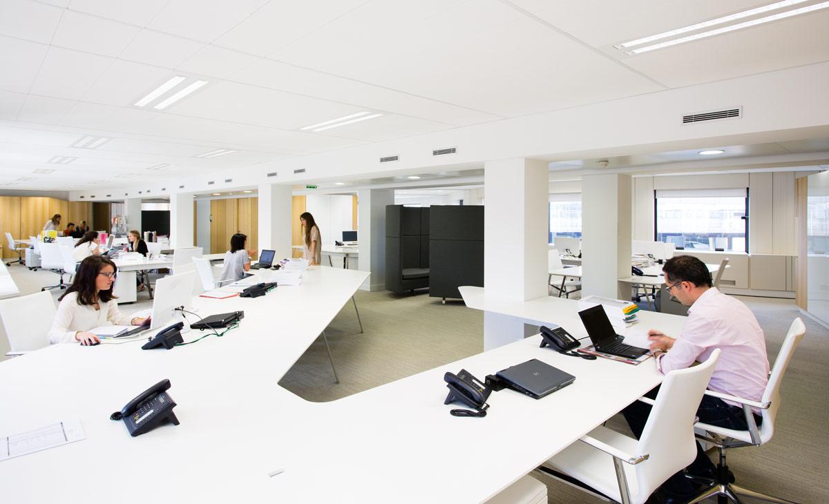 Interior d animation of modern open plan office youtube