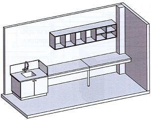 Plan de la salle de radiologie