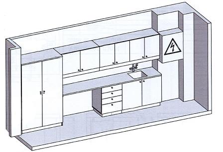 Plan de la salle de soins