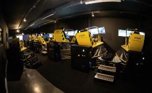 Les 8 simulateurs de conduite Ellip6 installés au Paddock