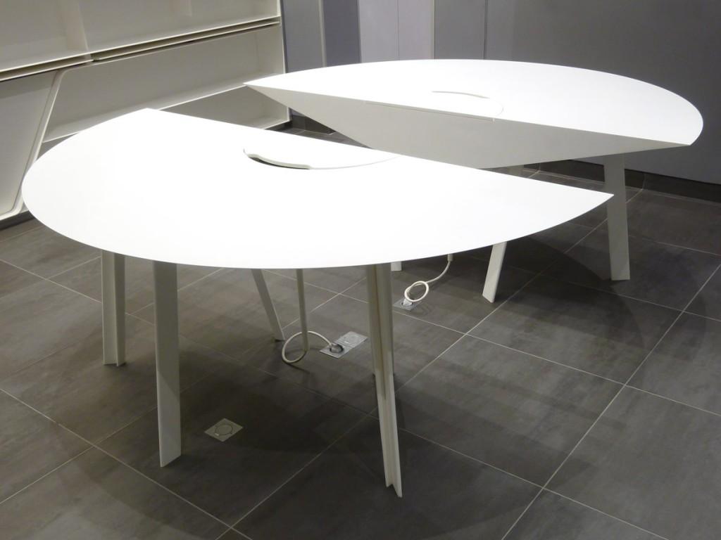 2 parties amovibles de la table