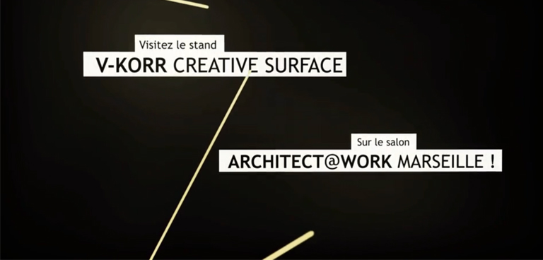 V-korr au salon Architect@work Marseille