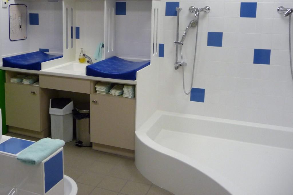 Réfection de la salle d'eau de la crèche de Dunières