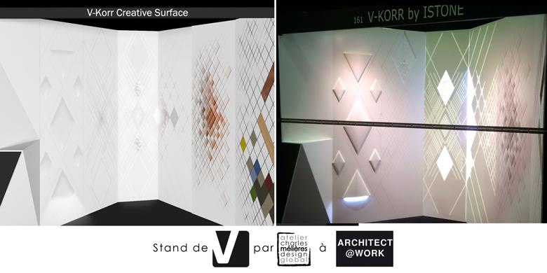 Stand V-korr à Architect@Work - Réalisation Charles Mélières