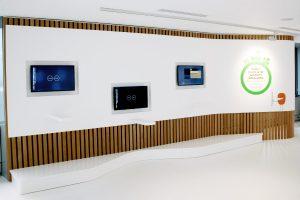 Habillage mural de l'espace interactif