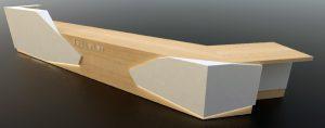 Banque d'accueil de bureau en bois et Solid Surface